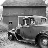 1932 Ford 5W Coupe - B&W - 2