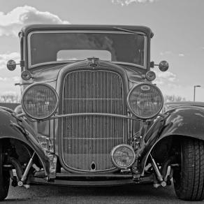 1932 Ford 5W Coupe - B&W - 5