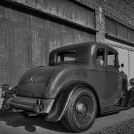 1932 Ford 5W Coupe - B&W - 7