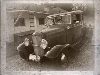 1932 Ford 5W Coupe - B&W